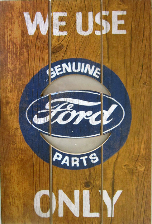 Ford-Genuine Parts (plank wood sign)
