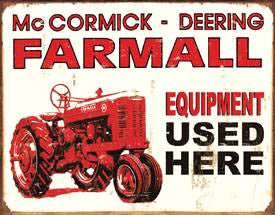 Farmall Equipment Used Here