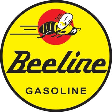 "Beeline Gasoline 26"" Round Metal Sign"