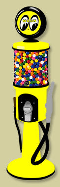 Visible Gas Pump Gumball Dispenser-Moon Eyes