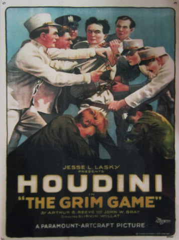 Houdini-Grim Game Metal Sign