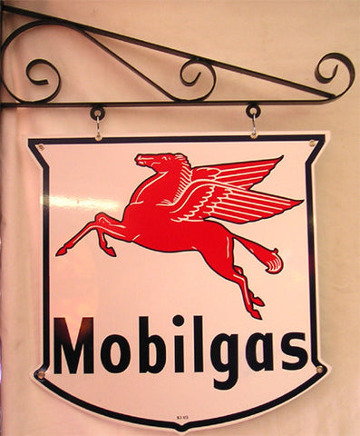 Mobil 5-Point Double Sided Hanging Sign