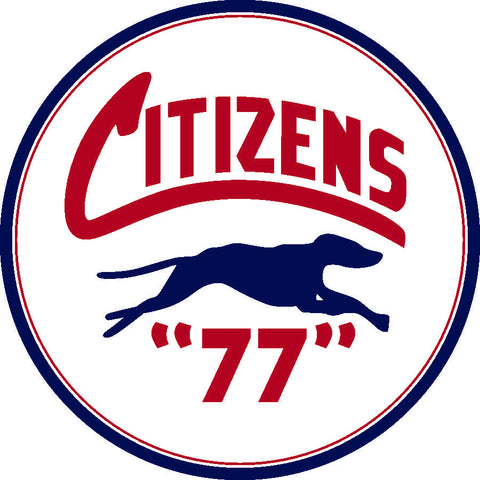 "Citizens 77 Motor Oil 26"" Round Metal Sign"