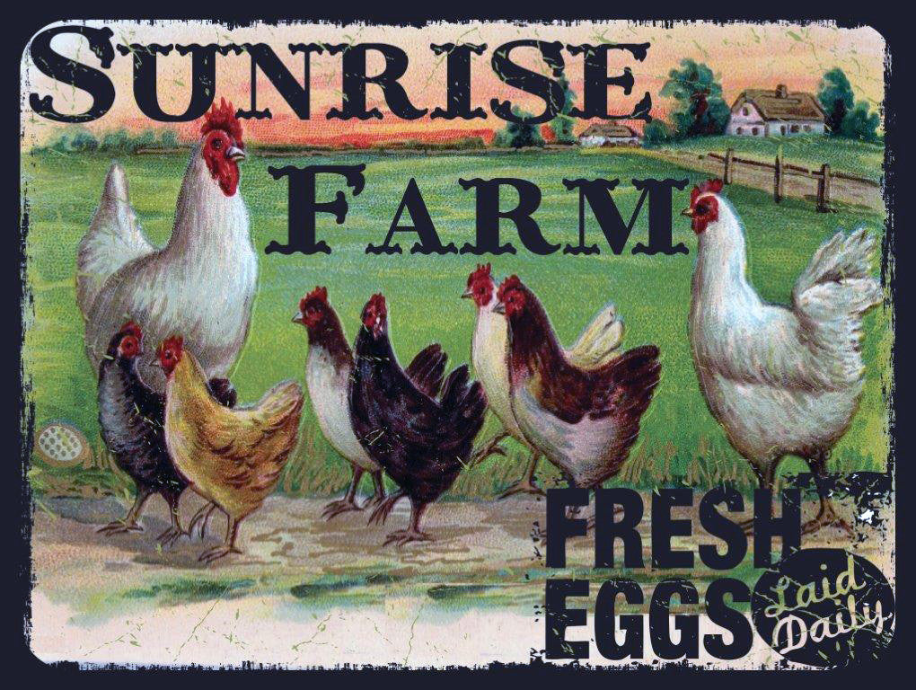 Sunrise Farm Metal Sign