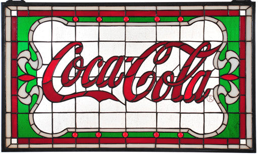 Coca-Cola Nouveau Stained Glass