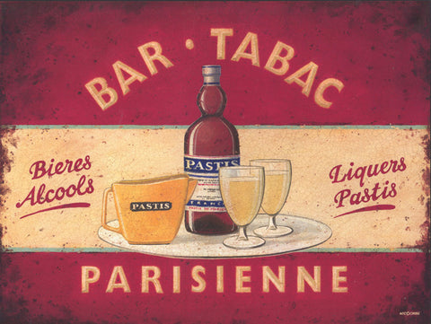 Bar Tabac Metal Sign