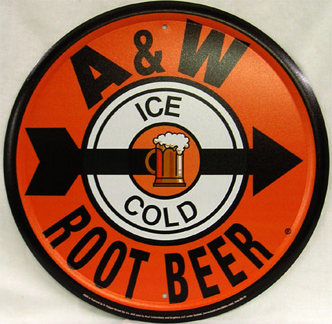 A & W Root Beer (round)