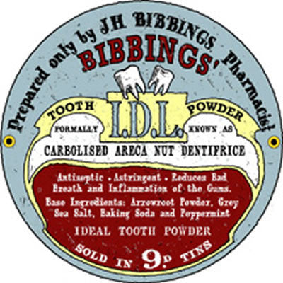 Bibbings' Tooth Powder Porcelain Sign