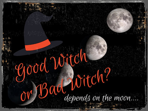 Good Witch / Bad Witch Metal Sign