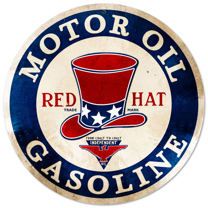 Red Hat Motor Oil-Gasoline
