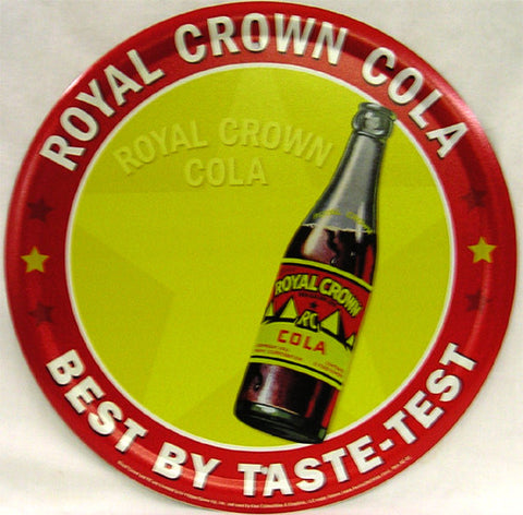 Royal Crown Cola (round) Metal Sign