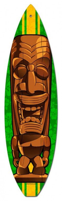 Brown Tiki Surfboard
