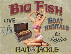 Big Fish Boat Rentals Metal Sign