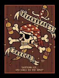 Blackbeard's Saloon Metal Sign