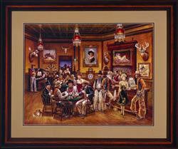 Western Saloon Lithograph