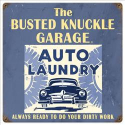 "Auto Laundry (12"" square Metal Sign)"