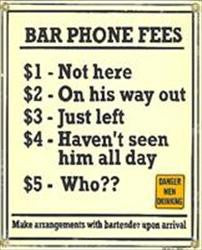 Bar Phone Fees