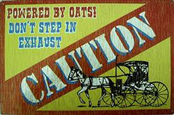 Caution-Powered By Oats