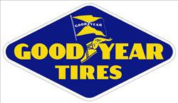 "Good Year Tires Metal Sign 33"" by 19"""