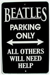 Beatles Parking Only