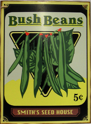 Bush Beans 5c - Smith Seed House Rustic Metal Sign