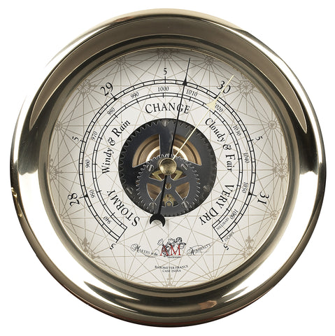 Brass Captain's Barometer