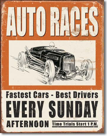 Auto Races-Every Sunday