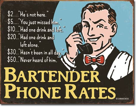 Bartender's Phone Rates