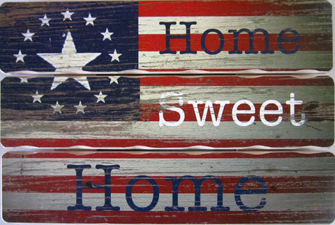 Home Sweet Home (Plank Wood Sign)