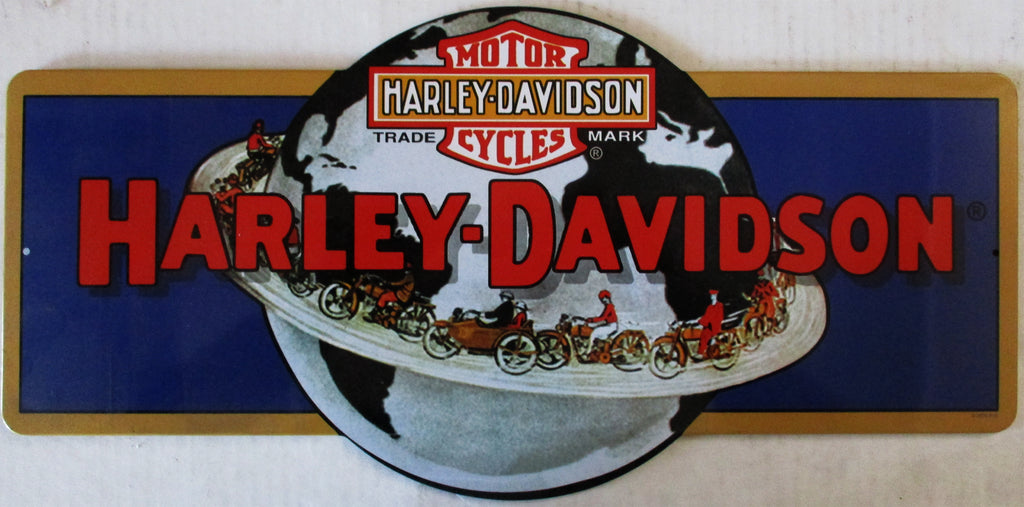 Harley-Davidson Globe Die-Cut Metal Sign