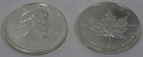 $10.00 Canadian Maple Leaf Silver Ounce Coin 2011 Uncirculated