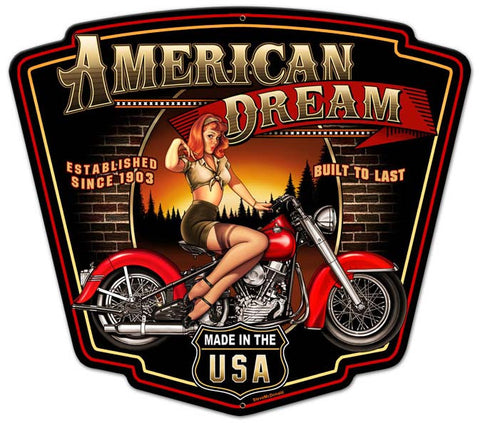 American Dream Plasma Cut Metal Sign
