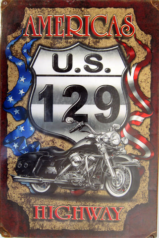 Americas US 129 Discontinued Metal Sign