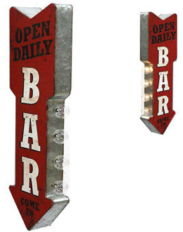 Bar Arrow LED Flange Sign