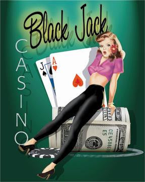 Black Jack Casino Pin Up