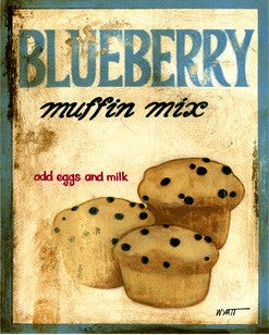 Blueberry Muffin Mix iron Sign
