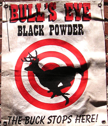 Bull's Eye Black Powder Canvas