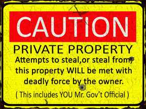 Caution Private Property