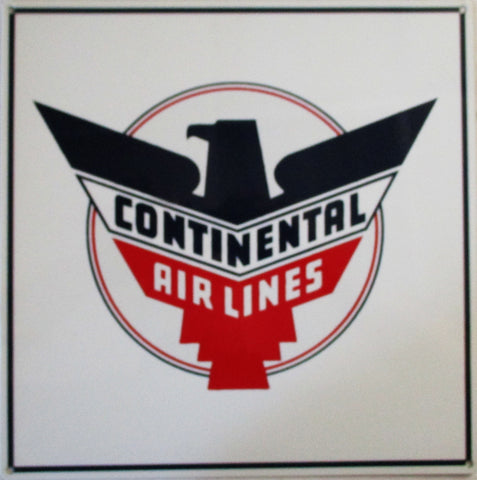 Continental Airlines Metal Sign