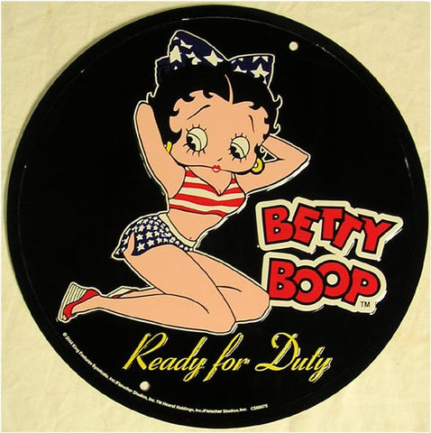 Betty Boop (round) Ready for Duty