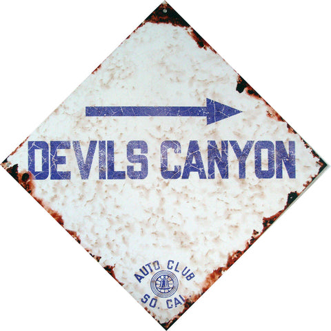 Devils Canyon - Auto Club So. Cal. Rustic Road Sign