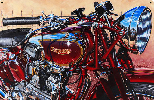 British Triumph Motorcycle by Eric Herrman