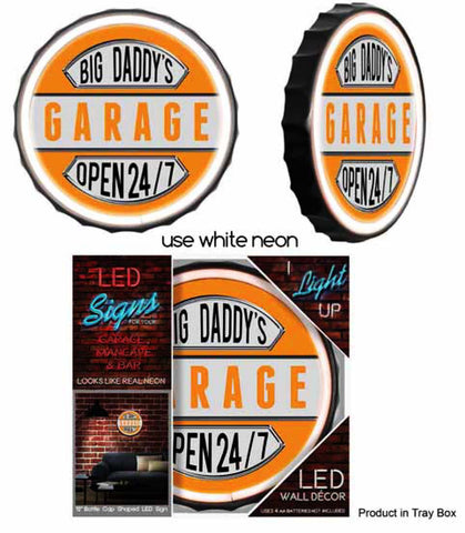 Big Daddy's GARAGE Rope Neon Sign