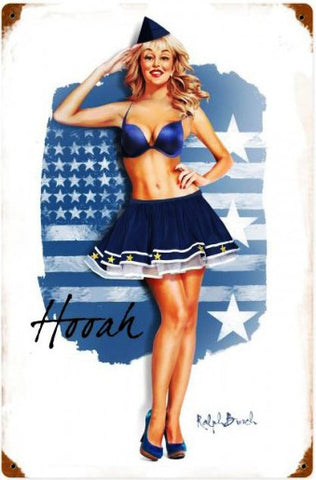 Air Force Girl Vintage Metal Sign