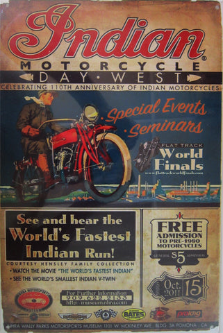 Indian 110th Anniversary Metal Sign