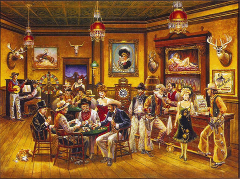 Western Saloon Lithograph World Wide 910