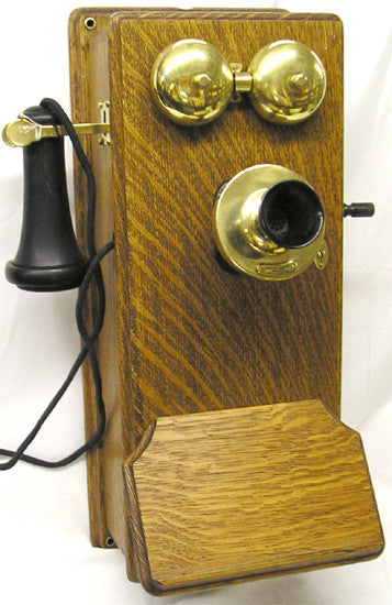 Western Electric Coffin Wall Telephone