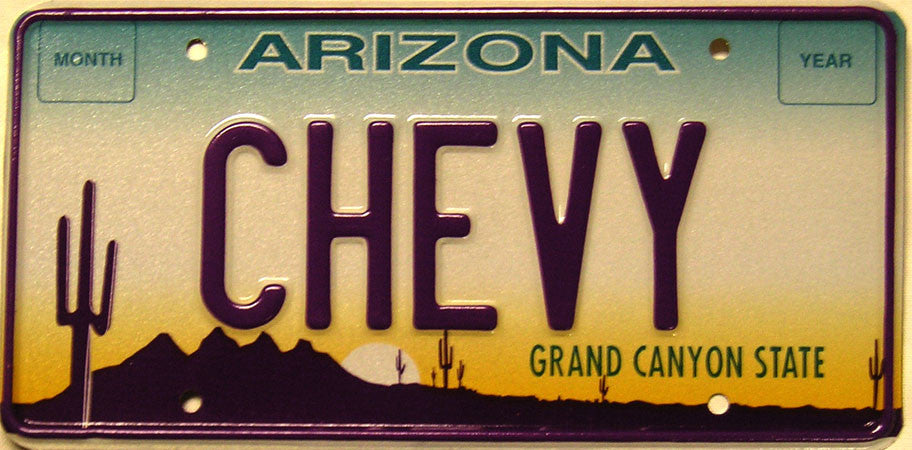 Arizona CHEVY Plate