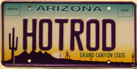 Arizona HOTROD Plate