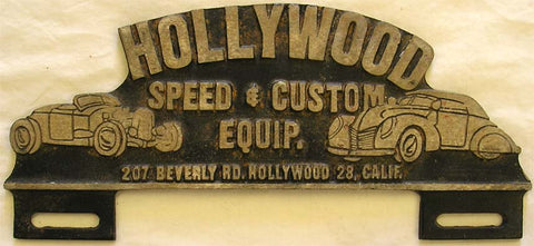 Hollywood Speed & Custom (plate marker)